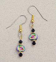 Rainbow Spiral French Hook Earrings